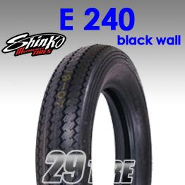 ยางนอก SHINKO(ชินโกะ) รุ่น  E240 (ขอบดำ) ลายคลาสสิค ขอบ 16