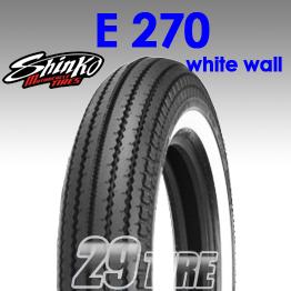 ยางนอก SHINKO(ชินโกะ) รุ่น  E270 (ขอบขาว) ลายฟันเลื่อย ขอบ 16