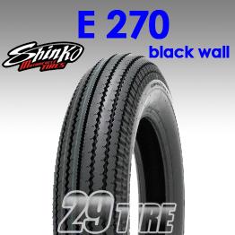 ยางนอก SHINKO(ชินโกะ) รุ่น  E270 (ขอบดำ) ลายฟันเลื่อย