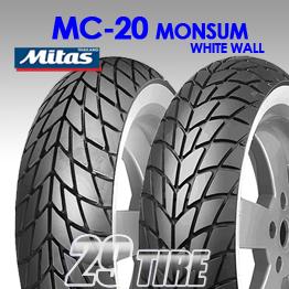 ยางนอก Mitas รุุ่น MC20 Monsum ขอบขาว