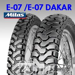 ยางนอก Mitas รุ่น E-07 และ E-07 Dakar