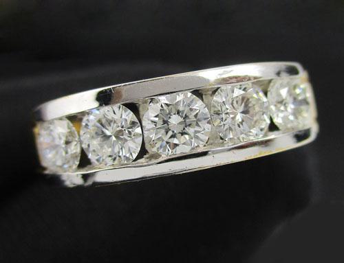 แหวน เพชรแถว ฝังสอด 5 เม็ด 0.61 กะรัต ทอง90 งานสวยมาก นน. 4.60 g