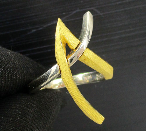 รหัสสินค้า 041319 แหวน GOLD MASTER อักษร A ทอง24K + ทอง14K 2 กษัตริย์ งานสวยมาก นน. 4.33 g