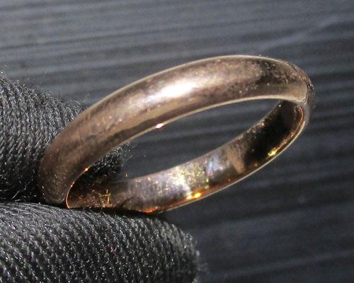 แหวน นาก40 ปลอกมีด ลายเกลี้ยง งานเก่า หลุดจำนำ นน. 2.78 g
