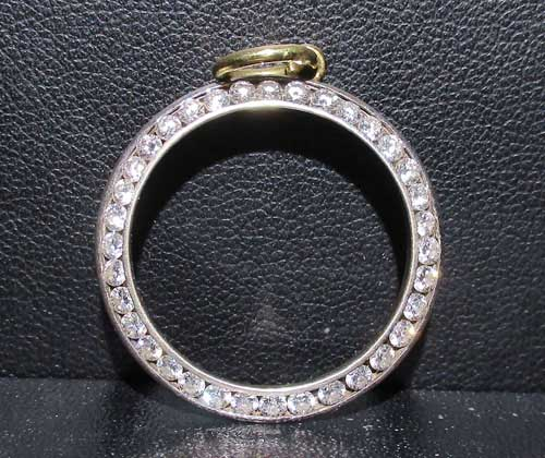 จี้ เพชร ห่วงกลม 36 เม็ด 0.90 กะรัต ทอง18K งานสวยมาก นน. 2.84 g