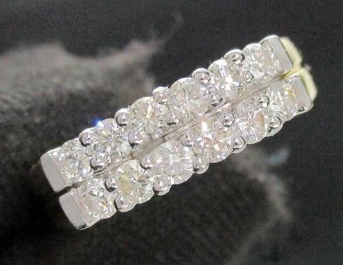 รหัสสินค้า: 47885  แหวน เพชรแถว 2 แถว 12 เม็ด 0.48 กะรัต ทอง90 หลุดจำนำ  นน. 4.60 g
