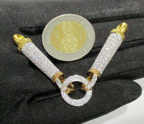 ไหหลำ ห่วงเพชร 210 เม็ด 3.18 กะรัต ทอง90 เพชรสวย เล่นไฟ วิ้ง วิ้ง นน. 14.24 g 2