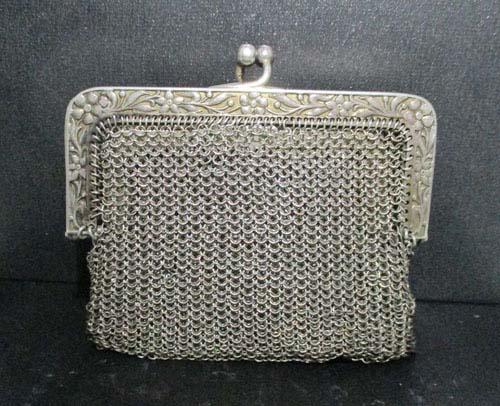 กระเป๋า เงิน925 ลายถักสาน งานเก่า หลุดจำนำ สวยมาก นน. 71.20 g