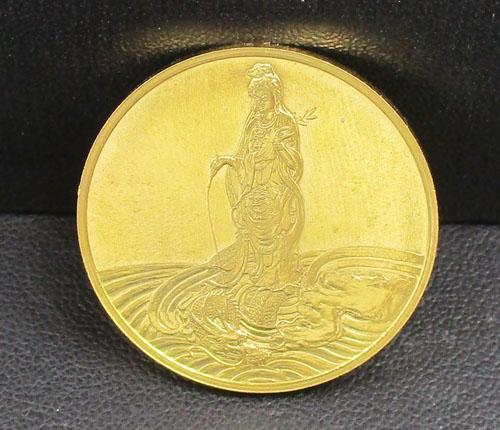 เหรียญทองคำ พระโพธิสัตว์กวนอิม วัดบวรนิเวศวิหาร ๓ ตุลาคม ๒๕๓๖ สวยน่าสะสม นน. 17.92 g