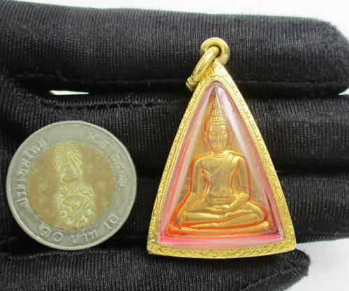 พระสมเด็จนางพญาคุณากร หลัง ญสส. วัดบวรนิเวศฯ เนื้อทองคำ ปี 2532 เลี่ยมตลับทอง นน. 32.76 g 2