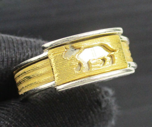 แหวน Gold Master ปีจอ 2 กษัตริย์ ทอง24K + ทอง14K งานสวยมาก นน. 5.97 g