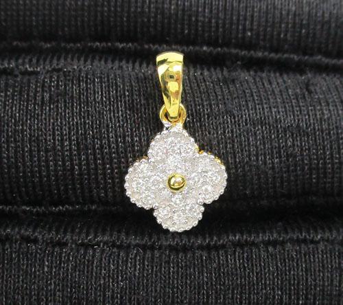 จี้ เพชร กระจุกดอกไม้ เพชร 20 เม็ด 0.16 กะรัต ทอง90 งานสวยมาก นน. 1.18 g 3