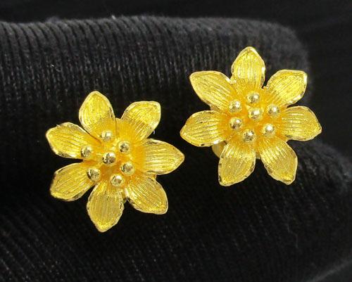 ต่างหู ดอกมะลิ ทอง99.99 งานสวยมาก นน. 4.50 g