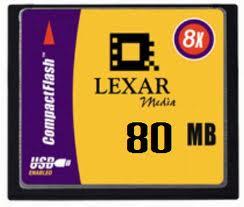 LEXAR CF 80 MB SPEED 8X