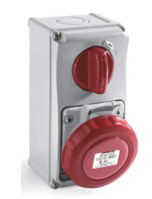 AZGA WALL INTERLOCKED SOCKET IP67 2600X ENCLOSURES WALL INTERLOCKED SOCKET