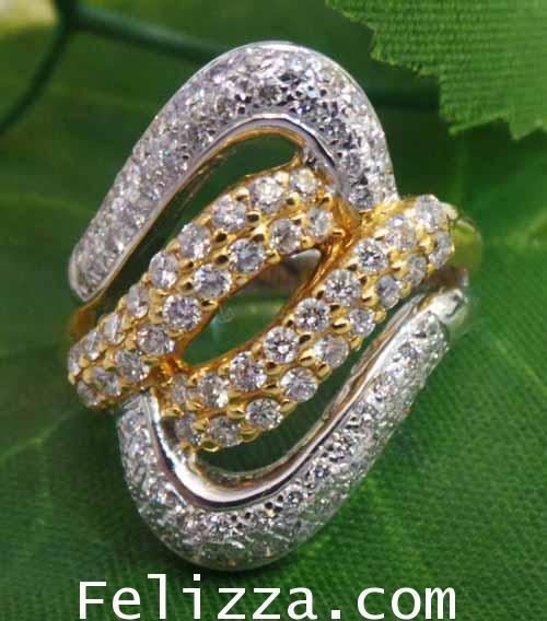 แหวนเพชรแท้เบลเยี่ยมคัท RI00089-14 (HXRO)