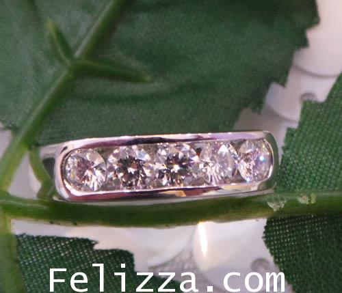 แหวนเพชรแท้เบลเยี่ยมคัท RI00347-95 (DKXX)