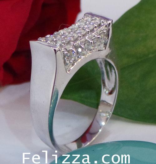 แหวนเพชรแท้เบลเยี่ยมคัท RI00329-92 (DEHX)