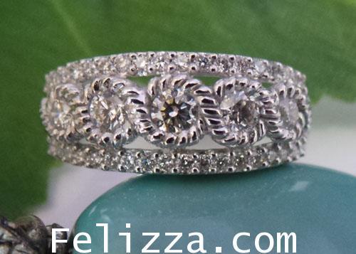 แหวนเพชรแท้เบลเยี่ยมคัท RT00427-173 (DSHO)