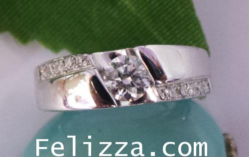 แหวนเพชรแท้เบลเยี่ยมคัท  RI00097-14 (DKEX)