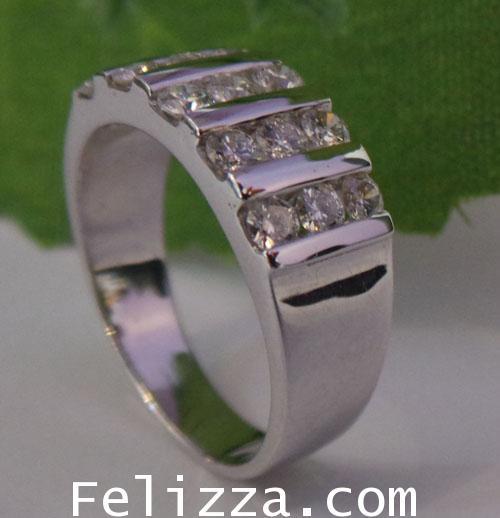 แหวนเพชรแท้เบลเยี่ยมคัท  RI00223-55 (DETX)