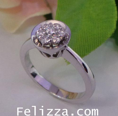 แหวนเพชรแท้เบลเยี่ยมคัท RI00114-35  (DSZX)