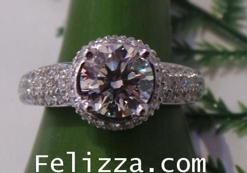 แหวนเพชร RI00129-38 (พร้อมใบเซอร์ GIA) (EKFA)