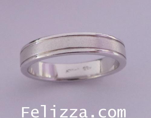 แหวนทองคำขาว RI00408-157 (ELTO)