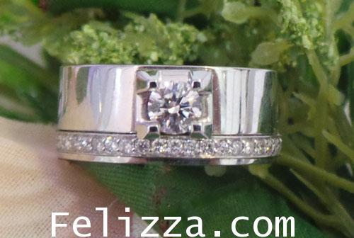 แหวนเพชรเบลเยี่ยมคัท (ใบรับประกัน GIA) RI00381-107 (EHSO)