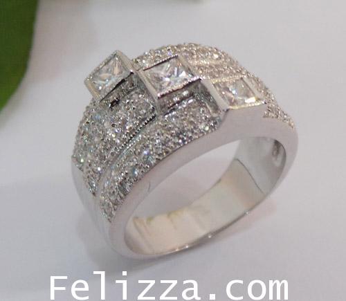 แหวนเพชรแท้เบลเยี่ยมคัท RI00326-92 (DTLX) 1
