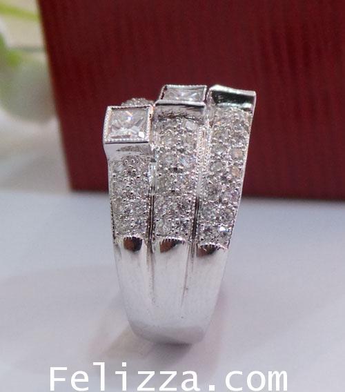 แหวนเพชรแท้เบลเยี่ยมคัท RI00326-92 (DTLX) 2
