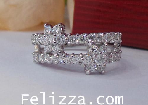 แหวนเพชรแท้เบลเยี่ยมคัท RI00118-36 (DSKZ)
