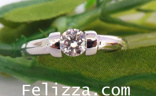 แหวนเพชร เบลเยี่ยมคัต(พร้อมใบเซอร์ GIA) RI00225-55 (EKSX) 1