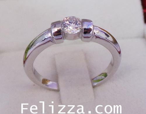 แหวนเพชร เบลเยี่ยมคัต(พร้อมใบเซอร์ GIA) RI00225-55 (EKSX) 2