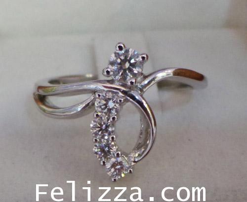 แหวนเพชรแท้ เบลเยี่ยมคัต RI00247-60 (DSZX)
