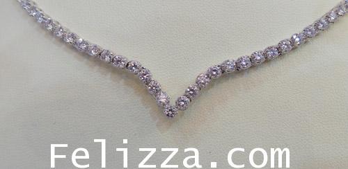 สร้อยคอเพชรแท้เบลเยี่ยมคัท ( Diamond Line) NL000017-99 (DSKZX)