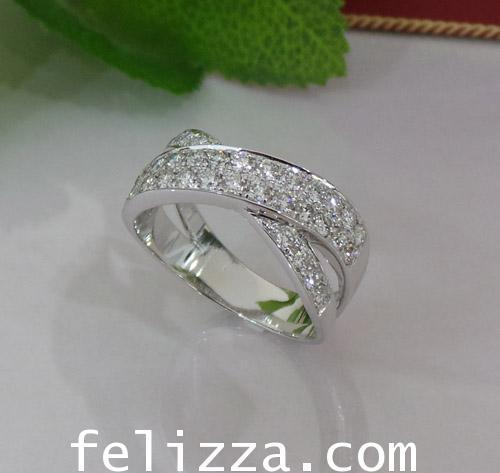 แหวนเพชรไขว้ RT20512-218