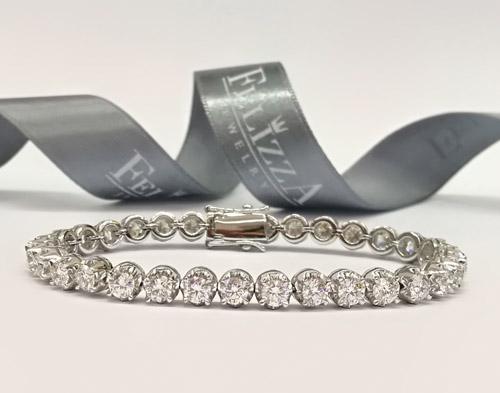 สร้อยข้อมือเพชร (Diamond Line)  WL00023-278
