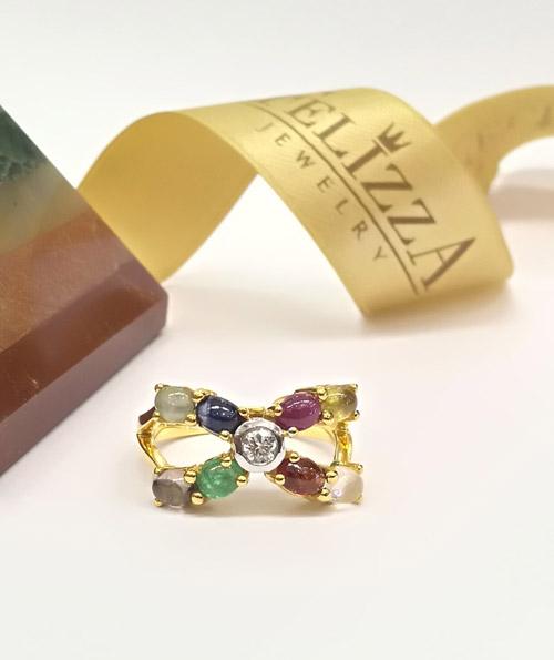 แหวนพลอยนพเก้า RI00536-279 (HNLZ)