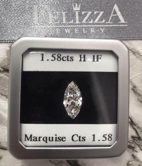 เพชรร่วงใบเซอร์ GIA (Marquise Cut)