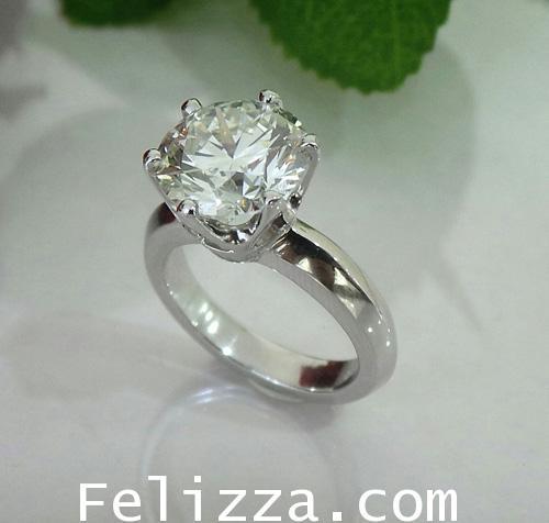 แหวนเพชรแท้เบลเยี่ยมคัท (พร้อมใบเซอร์ HRD) RI20516-219