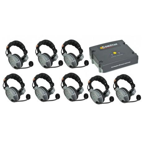 ระบบไวเลสรับและส่ง 2 ความถี่ COMSTAR XT-8 8-User Full Duplex Intercom Wireless System