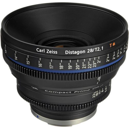 เลนส์ Zeiss Compact Prime ขนาด CP.2 28mm/T2.1 Cine Lens (EF Mount)