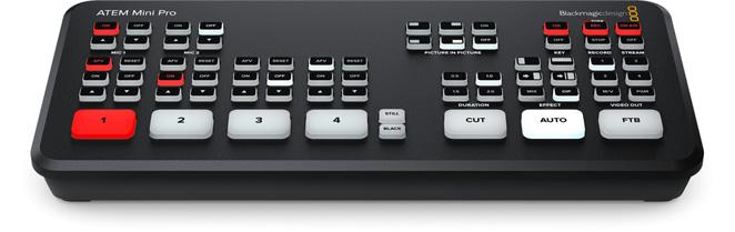 ATEM MINI PRO 4 HDMI Live Production switcher
