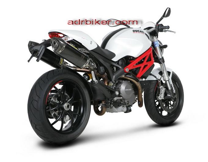 ท่อ Akrapovic Slip on สำหรับ Ducati Monster 696, 796, 1100