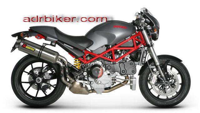 ท่อ Akrapovic สำหรับ Ducati Monster S4R S4RS 2003-2008 แบบ titanium และ คาร์บอน