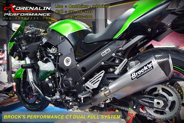 ท่อ Brock\'s Performance CT Dual Full System  สำหรับ ZX14 2006-2018