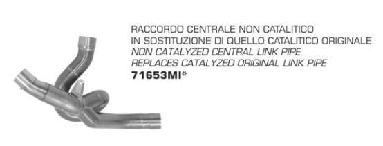 คอท่อ Arrow  สำหรับ Multistrada 1200 2016+ euduro ใช้ได้กับปลายทุกยี่ห้อ