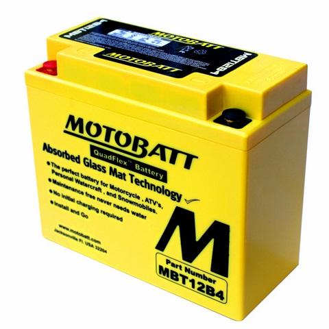 แบตเตอรี่ Motobatt  รุ่น  MBT12B4 สำหรับ Monster 696, 795, 796, 1100