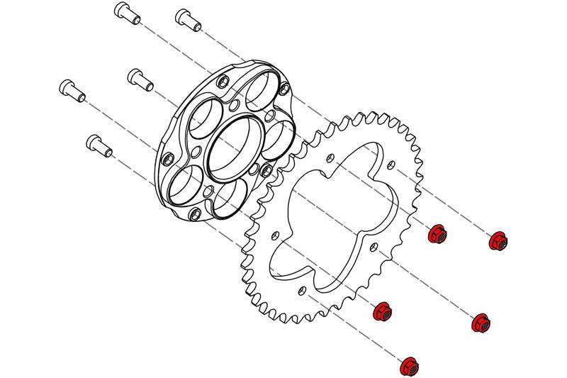 น๊อตสเตอร์ ชุด5ตัว  CNC Racing สำหรับ Hyper 939 , 821